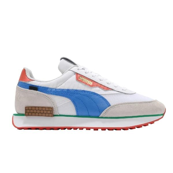 Puma 休閒鞋 Future Rider Super Mario 64 白 灰 女鞋 男鞋 瑪利歐【ACS】 38019601