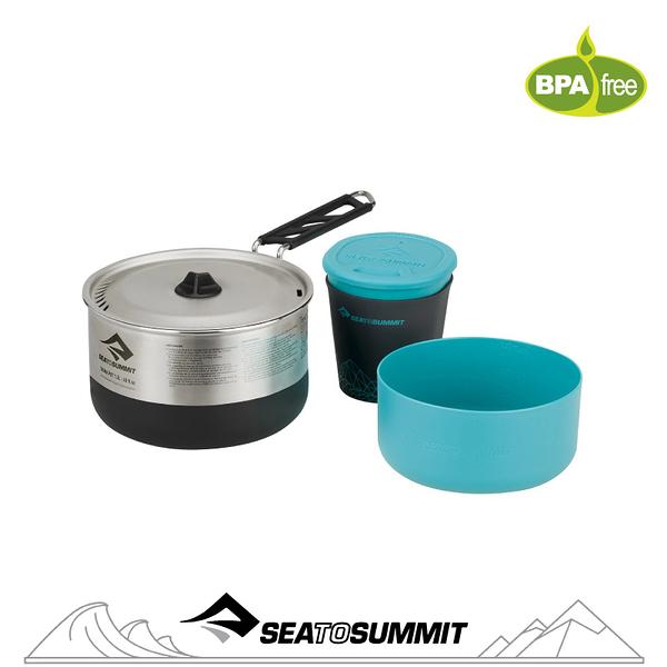 【Sea to Summit 澳洲 Sigma 折疊鍋具組《1.1/1人餐具》】STSAPOTSIGSET1.1/戶外餐具/鍋具