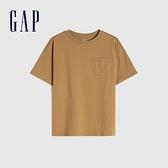 Gap男童 純棉基本款圓領短袖T恤 785201-淺咖色