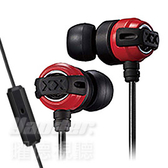 【曜德 / 送收納盒】JVC HA-FX11XM 紅黑 入耳式耳機 重低音系列 線控麥克風 / 免運