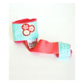 玩具綁帶 美國Loopy Gear寶寶抓緊緊 安撫玩具手腕帶 玫紅藍花火 里和 RIHO