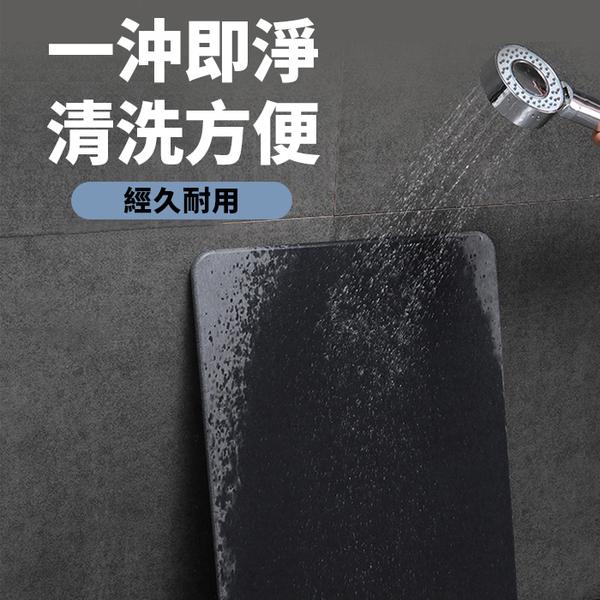 【團購棒棒】極灰純色石紋珪藻土地墊 (60x39公分) 附防滑墊/砂紙/保護包裝