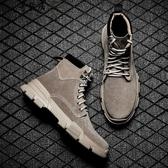 INS馬丁靴ULZZANG男學生中筒加絨秋冬季英倫潮流百搭沙漠短靴低筒