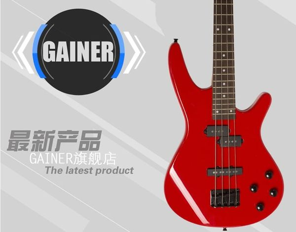 Gainer Bass Hero 電貝司 IB貝斯24品三塊拾音器 貝斯-炫彩腳丫折扣店
