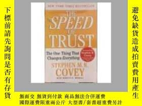 二手書博民逛書店The罕見SPEED of Trust: The One Thi