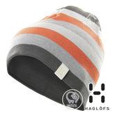 【瑞典Haglofs】TWICE BEANIE條紋針織羊毛帽『磁礦灰』603335 保暖帽│造型帽│毛帽