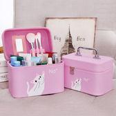 化妝包大容量小號便攜韓國簡約少女心可愛化妝品收納盒化妝箱手提