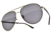 GUCCI 太陽眼鏡 GG0043SA 002 (黑) 奢華時尚款 飛官墨鏡 # 金橘眼鏡