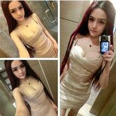 秋新款名媛酒會晚禮服派對小洋裝性感夜店女裝吊帶緊身洋裝『夢娜麗莎精品館』