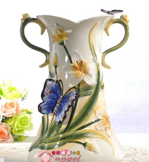 【協貿國際】歐式空谷幽蘭陶瓷花瓶