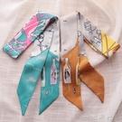 夏季小絲巾女裝飾韓國長條脖子領巾夏天法式百搭方巾細窄圍巾薄款  一米陽光