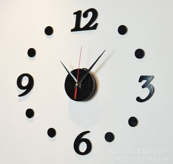 創意掛鐘電子diy 立體數字掛鐘趣味鐘錶 199元