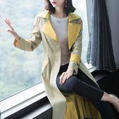 秋裝女新款女裝時尚修身長袖風衣女中長款休閑端莊女士外套8073PF4F-412快時尚