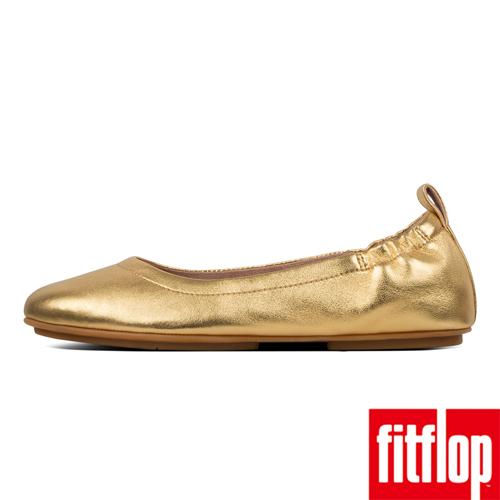 熱銷推薦7折【FitFlop】ALLEGRO LEATHER BALLERINAS(黃金色)