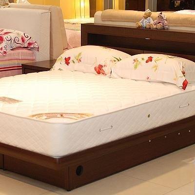 美國Orthomatic[Classic Firm]經典系列5x6.2尺雙人獨立筒床墊, 送床包式純棉保潔墊