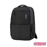 AT美國旅行者 Zork多功能可平開筆電後背包(黑)