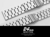 【完全計時】手錶館│24mm 圓潤精密拋光 單向摺疊扣不銹鋼帶組 造型款 (特價) 替換鋼帶  鋼13