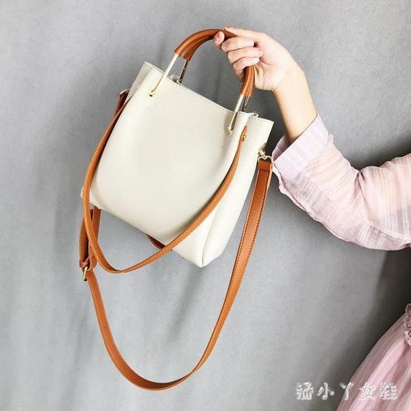 手提包斜挎包包女2018新款潮韓版大容量單肩水桶包 XW4261【潘小丫女鞋】