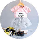 女童裝夏裝0-1-2-3歲女寶寶Tt恤短褲兩件套裝女嬰兒夏天裙子夏季 全館八折 限時三天!