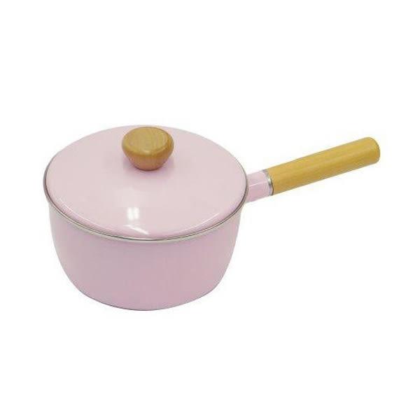 [CAPTAIN STAG] 鹿牌 PEARL 琺瑯單柄鍋 18cm (粉紅) (H-7793)