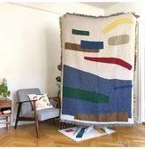 被毯沙發毯 原創設計北歐ins風文藝休閒毯掛毯藝術毯抽象音符歐美創意毯個性 曼慕衣櫃