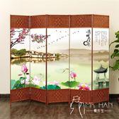 屏風   隔斷簡易折疊客廳玄關墻移動折屏現代簡約時尚辦公室實木中式