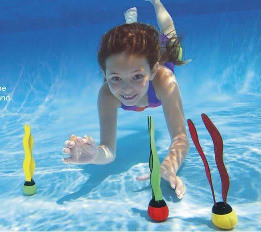 [衣林時尚] INTEX 水草 (1組3個 紅 黃 綠) 游泳第一訓練課 潛水撿物 55503