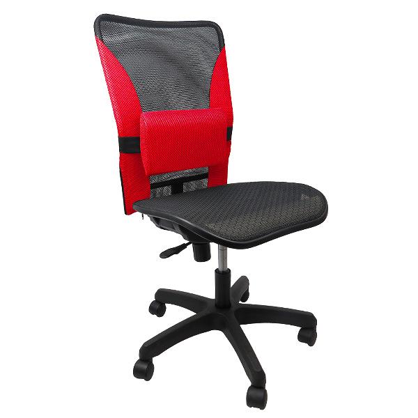 促銷*邏爵*K015 多彩無扶手護腰網布涼爽椅/ 辦公椅 / 電腦椅/ 書桌椅 OA辦公 強化塑腳 4色~*