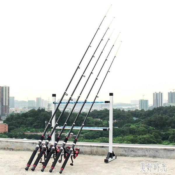 釣魚桿 魚竿海竿遠投拋竿海桿紡車輪套裝超硬裸竿全套甩桿 zh8109『美好時光』