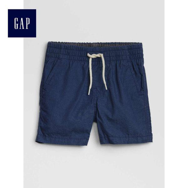 Gap男嬰兒 舒適鬆緊腰卡其短褲 441364-海軍藍色