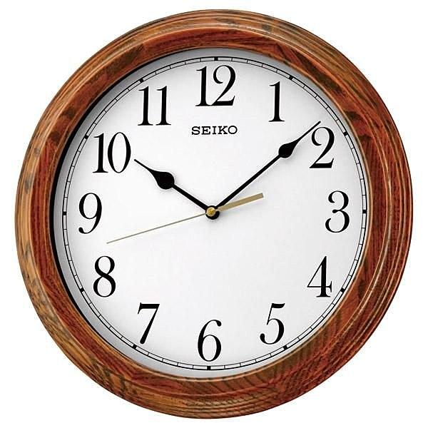 【時間光廊】SEIKO 日本 精工掛鐘 圓型 木質外殼 滑動式秒針 原廠公司貨 QXA528B/QXA528