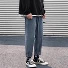 男士褲子 牛仔褲子男士秋季潮牌直筒寬鬆韓版休閒哈倫墜感闊腿學生老爹長褲