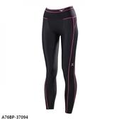 Mizuno BIOGEAR [A76BP-37094] 女款 機能 壓縮 壓力 緊身 全長 長褲 運動 慢跑 黑 桃紅