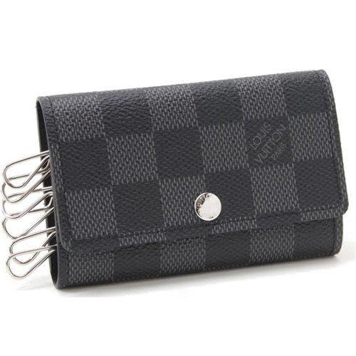 Louis Vuitton LV N62662 Damier 黑棋盤格紋六孔鑰匙包 全新 現貨【茱麗葉精品】