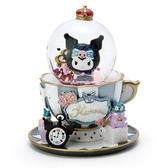 〔小禮堂〕酷洛米 迷你造型玻璃雪球水晶球《黑白》耶誕雪球.2019聖誕系列 4901610-85027