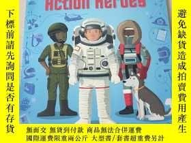 二手書博民逛書店Sticker罕見Dressing action heroes:貼紙穿衣動作英雄Y212829