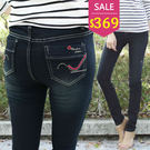 窄管褲-BOBO小中大尺碼【8251】中腰弧線窄管褲-M-5L