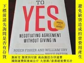 二手書博民逛書店Getting罕見to Yes:談判協議而不放棄(英文原版)Y2