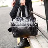 手提包  時尚街頭男包單肩包斜背包男士包包手提包休閒韓版潮流包旅行包潮 『歐韓流行館』