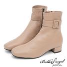此款版型正常,適合加襪穿著! 時尚主流復古小方頭鞋楦 合腳踝圍延長雙腿視覺比例