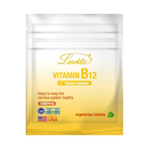 Lovita 愛維他-長效緩釋型維生素B12 1000mcg 旅行包7錠