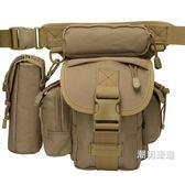 腿包軍迷多功能大容量男戰術腿包戶外騎行綁腿腰包附水壺包工具包掛包