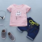 童裝 2018新款  男 女寶寶 兒童套裝短袖短褲2件套1-4歲童裝夏潮夢想巴士