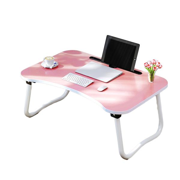 ✿現貨 快速出貨✿【小麥購物】床上摺疊桌 手機平板床上折疊桌 可放平板手機飲料雜物【B009】