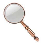 20倍全金屬手持老人閱讀放大鏡看報高清光學玻璃青銅色  米希美衣
