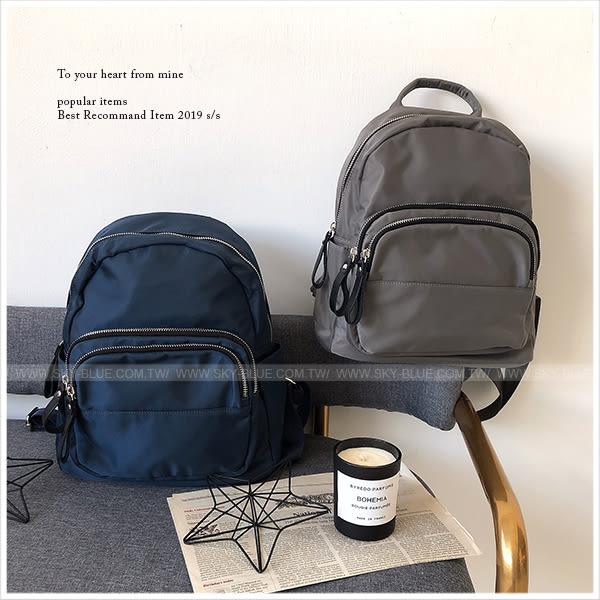 後背包-極簡個性尼龍後背包-共3色-A12121872-天藍小舖