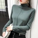 加絨針織打底衫 歐洲站秋冬新款修身磨毛半高領加絨長袖t恤女士歐貨雙面絨打底衫 歐歐
