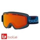法國 Bolle SCHUSS 雙層鏡片設計 防霧雪鏡 海軍藍/朝陽紅 #21873