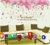 壁貼【橘果設計】櫻花 DIY組合壁貼/牆貼/壁紙/客廳臥室浴室幼稚園室內設計裝潢