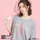 STAYREAL x Pink Panther 哈囉! 粉紅豹長版T